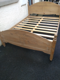 Solid King Size Wooden Bed