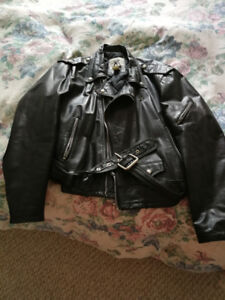 Lrg Leather Men's  Motorcycle Jacket