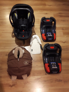 Coquille Britax B-Safe 35, 2 bases, Housse Petit-Coulou