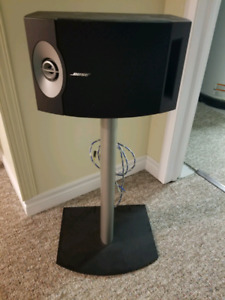 Bose speakers with Bose stands