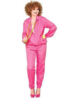 Adult Ladies 1980s Shell Suit Scouser Retro Trackie Fancy Dress Party Costume