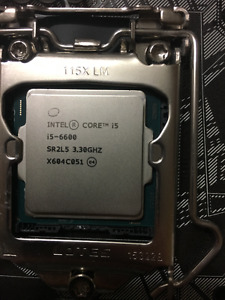 Intel Core i5-6600 and Asus H170-M plus motherboard