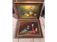 Pair of framed Still Life Oil on canvasses