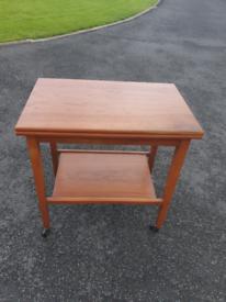 28. 1950's oak card table