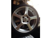 "Ford 17"" alloys . 4 x 205 40 17 new tyres"