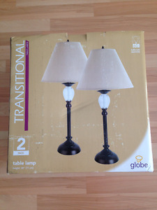 Two Brand New Unopened Table Lamps