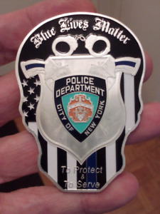 NEW YORK CITY POLICE THIN BLUE LINE COIN.