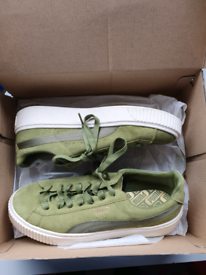 Pre owned green suede ladies Puma trainers size 7