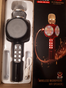 B.New karaoke Bluetoooth microphone , Excellent for singing