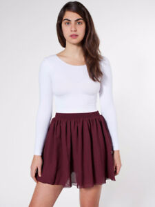 American Apparel Chiffon Skirt - Burgundy