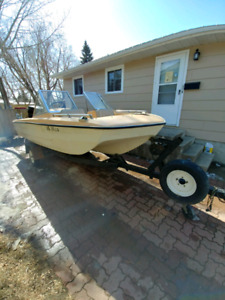 Boat, motor and trailer for sale. 1991 70HP Force.