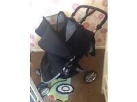 BRITAX DOUBLE STROLLER pram pushchair buggy
