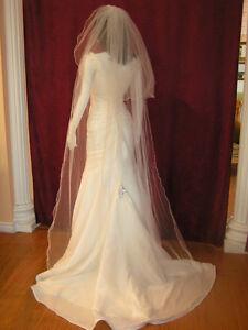 two tier floor length bridal veil