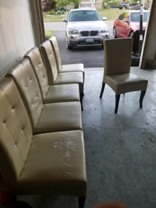 6 Parsons dining chairs $300
