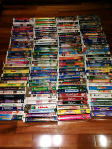 Disney and other vhs video cassettesgoe the old vcr