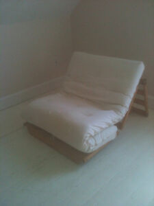 Futon frame and mattress