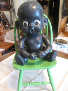 GORGEOUS OLD VINTAGE BLACK CELLULOID BABY DOLL