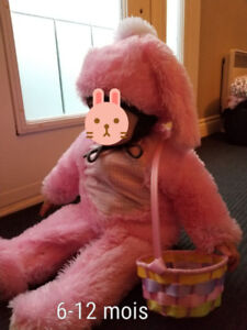 Costume lapin/ 6-12 mois