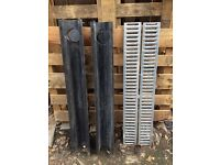 2 x Driveway drainage channels. Used-good condition.