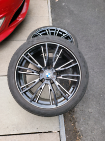 """19"""" BMW Alloy wheels with tyres"""