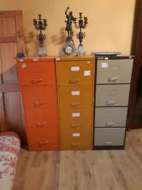 Large vintage filing cabinets