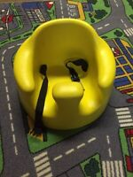 Bumbo chair with buckles