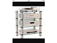 Glass hi-fi stand