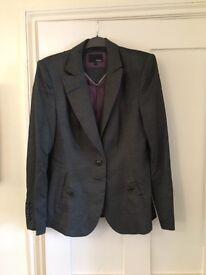 Next ladies grey suit jacket size 14