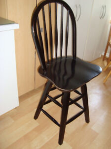 """6 Wooden Ashley 24"""" Hoopback Swivel Chairs or Barstools"""