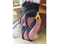 Golf Cart Bag Ladies Pink Yonex