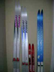 Waxless cross country skis with bindings ,boots ,poles