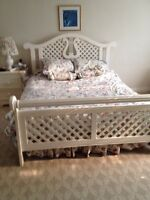 Queen bedroom set in perfect condition from Forest Hill home