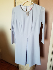 Ted Baker London Blue Haswell Embellished A Line Dress Size 2