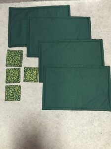Handmade Holiday Placemat and Coaster Set