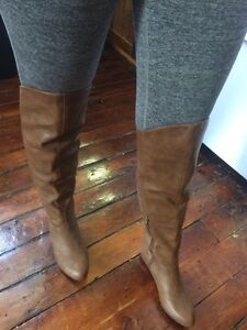 Knee high brown leather boots from Spring.  Peterborough Peterborough Area image 2