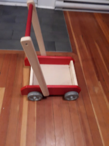 Wooden walker made by Lunenburg Toy Company