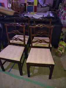 4 antique chairs Kitchener / Waterloo Kitchener Area image 1