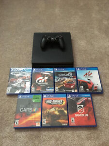 PS4 SLIM 1TB with 7 games