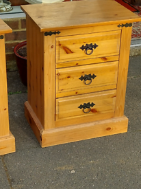 One pair of bedside cabinets £90
