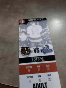 Tiger ticket for sale $10.00 SOLD pending pu