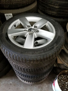 195 65 16 / 205 55 16  winter tires OEM VW Golf Jetta rims 5x112