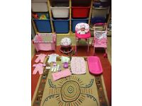 Dolly high chair buggy etc playset
