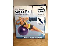 Exercise ball / yoga ball / pregnancy ball / Swiss ball with pump - 65 cm