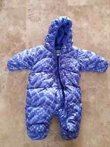 6 month down filled Columbia snowsuit