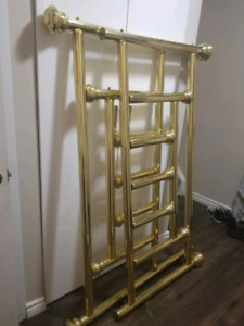 Queen Bed - Head and Foot Board - Brass
