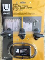 NEW Umbra Cable Rod Curtain System for Drapes