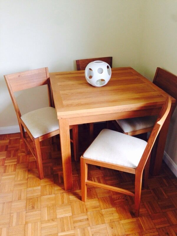 laura ashley oak brompton dining table/chairs | in winchester