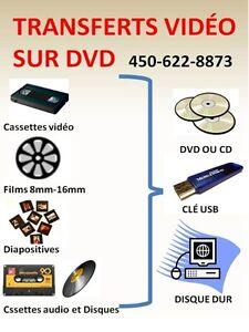 Transferts vidéo sur DVD