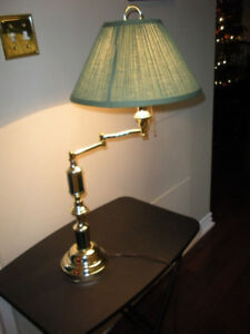 TABLE LAMP with swing out arm