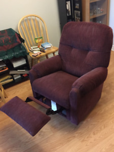 Red Fabric Recliner Chair